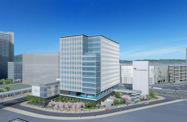 """""""ViNA GARDENS""""に海老名駅直結の最新オフィスビルを建設 3月10日、14階建て「オフィス棟」の建設工事に着手"""