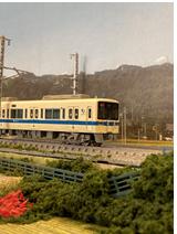 通勤車両8000形の模型(鶴巻温泉―伊勢原間)
