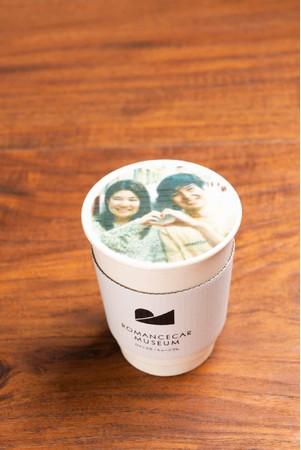 撮影写真をプリントしたドリンク2杯付き ※コーヒー・ココア・ミルクからお選びいただけます。