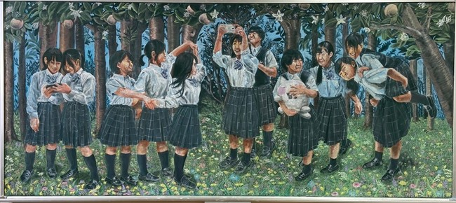 好文学園女子高等学校/好文学園黒板アートAチーム(11人)/懐かしい未来