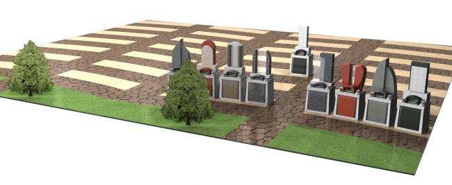 川西中央霊園「ペア墓」区画イメージ