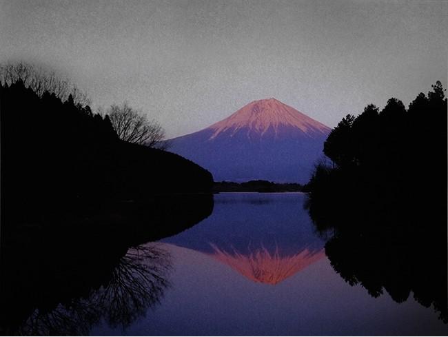 Following sunset (Tanuki-ko Lake) (C)Mineko Orisaku