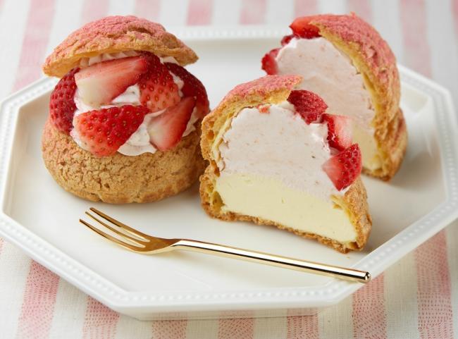 【いよてつ髙島屋限定】北海道産いちご香るシュークリーム~ダブルクリーム仕立て~