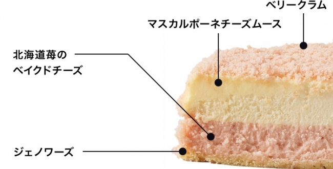 北海道苺のドゥーブル(断面)
