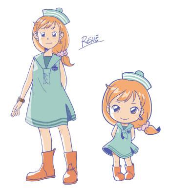 左:「ルネ」キャラクターデザイン  右:「ルネ」デフォルメデザイン