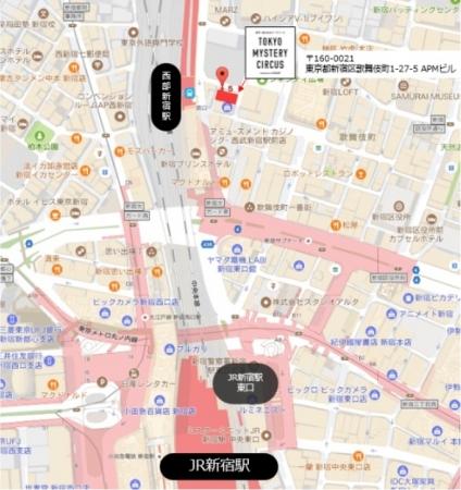 東京ミステリーサーカス地図