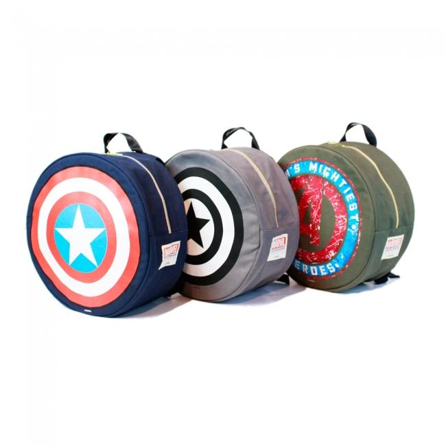 【マーベル展公式ショップ】 円形リュック キャプテン・アメリカ
