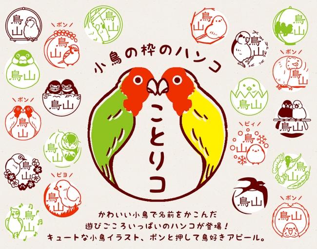 常識の枠わくから飛び出した文鳥やインコなどの小鳥が枠になった
