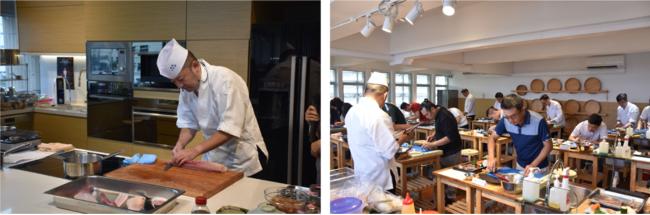 2018年にシンガポールで開催した日本料理の調理技能認定試験