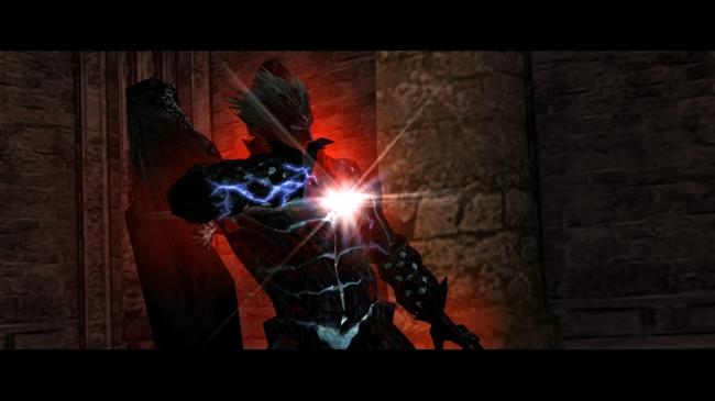 魔人化したダンテの胸に輝くデビルハーツ。アミュレットをカスタマイズすることでパワー重視、スピード重視など性能を変化させることが出来る。