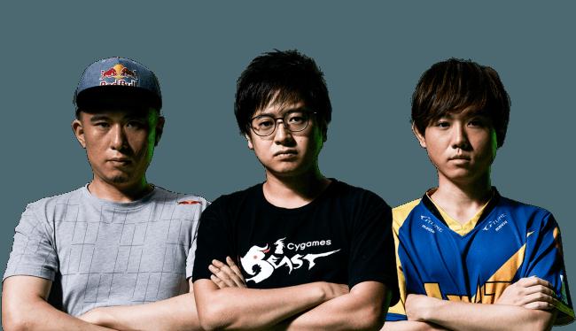 (左から)ボンちゃん選手、ふ~ど選手、Shuto選手