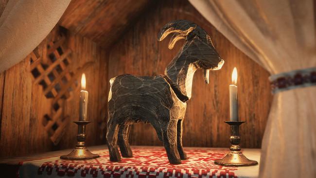 村にはヤギを模したトーテムが祀られ、また隠されている。すべて見つけ出すことが出来るだろうか?