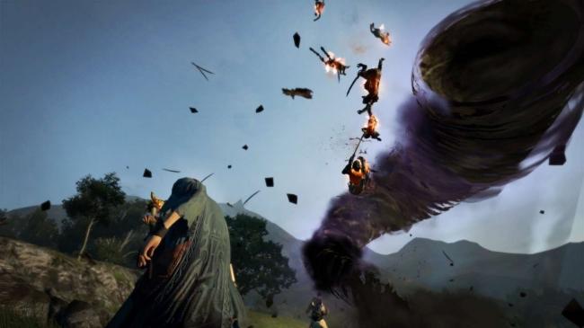敵を巻き込み、暴れまわる闇属性の竜巻を発生させる大魔法。敵の集団の中心に発生させることで、壊滅的なダメージを与えることが可能。