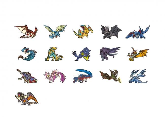 登場モンスターは全16種+シークレット2種