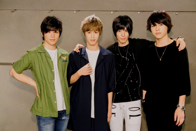 (左から)佐藤祐吾、  本田礼生、  健人、  森田桐矢