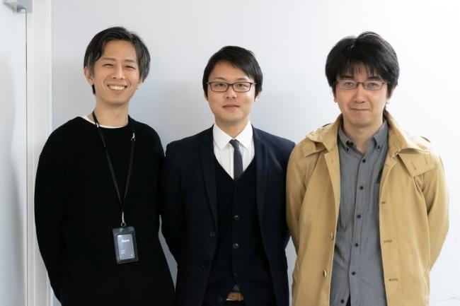 ▲(写真左から)Repro AI Labs今井、五木田和也氏、中山心太氏