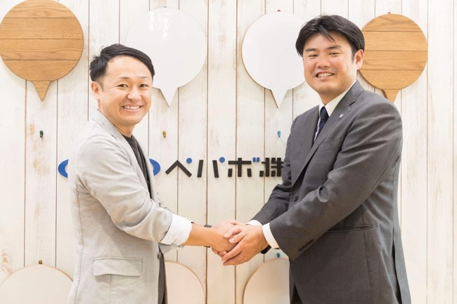 GMOペパボ代表取締役社長 佐藤と鹿児島ユナイテッドFC 取締役 徳重氏
