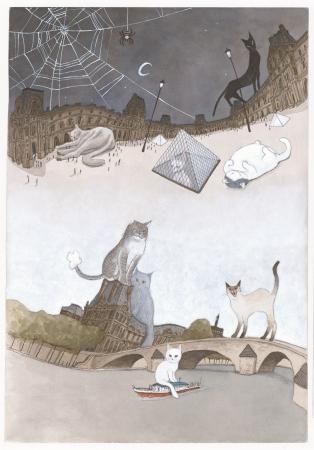 『ルーヴルの猫』より  (C)松本大洋/小学館