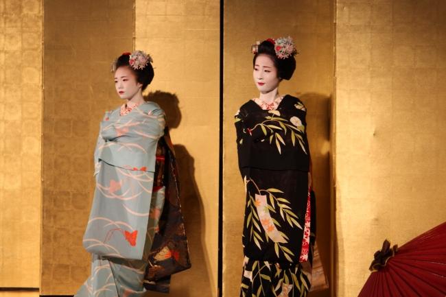 京都ならではの企画として、  オープニングには舞妓が登場。