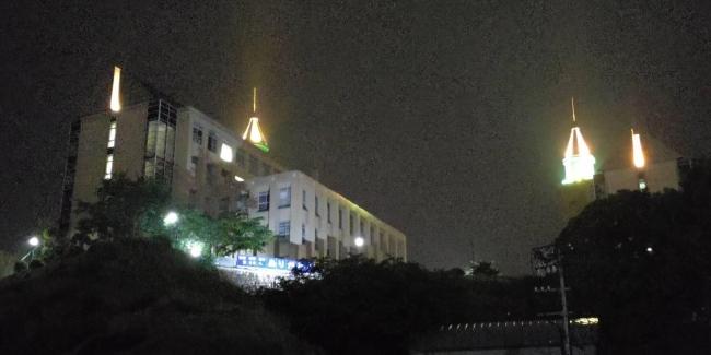 広島県立広島大学三原キャンパス ライトアップ状況