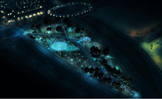 新港中央広場のイルミネーション(イメージ)