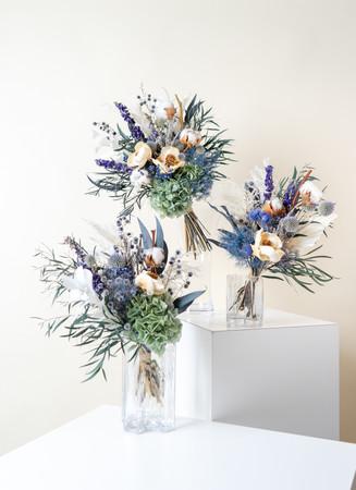 ドライフラワー花束・ブルー