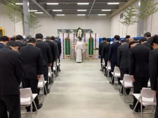▲『LOGIFRONT尼崎Ⅱ』起工式 神事の様子