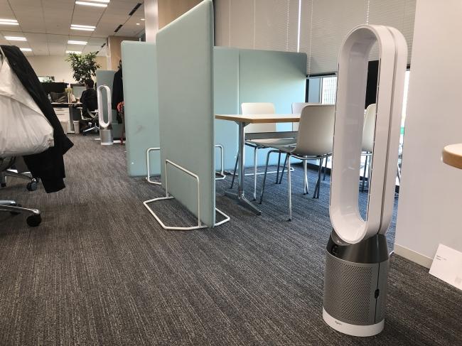 「カンキョウ(環境)」 Dyson空気清浄で健康なオフィス