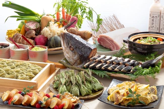 スカイグリルブッフェ 武藏『新潟の郷土料理を食べ尽くし』