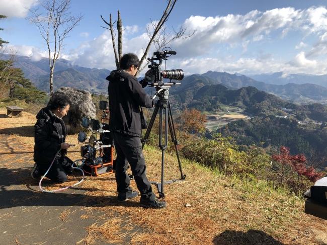 キヤノンの8Kカメラを使用した撮影風景(1)