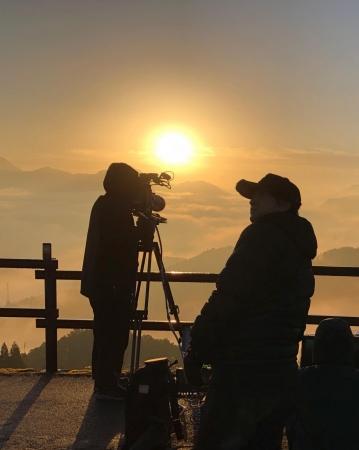 キヤノンの8Kカメラを使用した撮影風景(2)