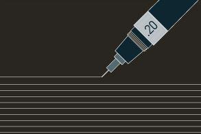0.2mmのポールペンで描く細さ!