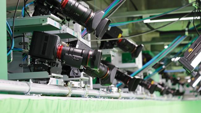 スタジオに設置され撮影に使用したカメラ
