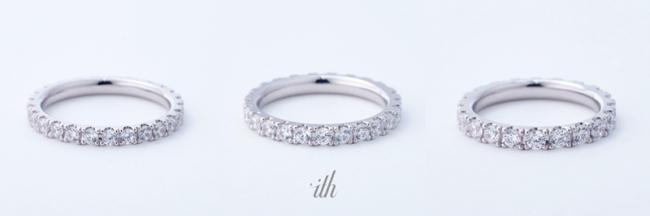 Eclissシリーズ3タイプはお好みに応じて指輪の幅が選べる