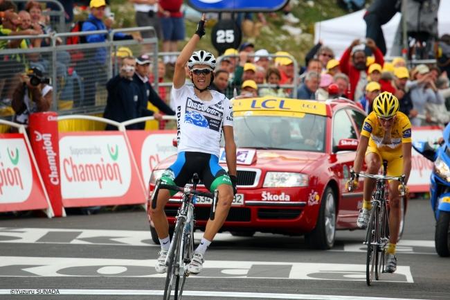 2007年ツール・ド・フランス第14ステージを制したアルベルト・コンタドール