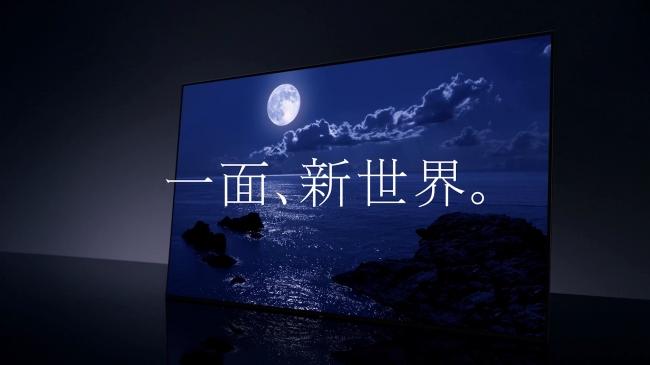 海の影と、  月の光の美しいコントラスト