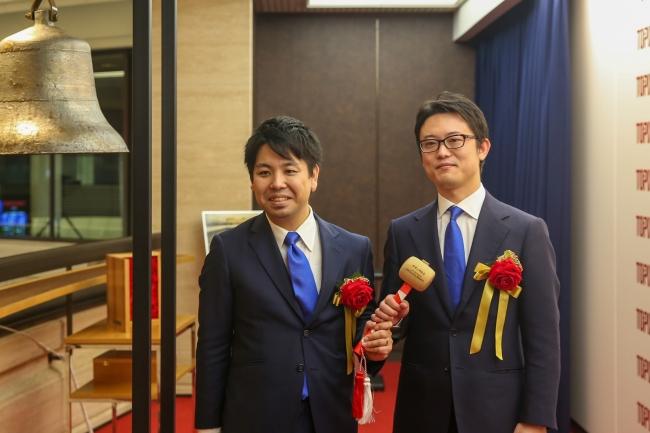 代表取締役社長の青木と代表取締役会長の小原