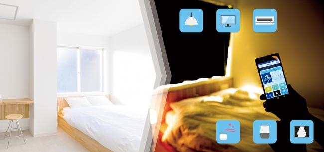 「おやすみ」モードに設定すると、快適な眠りに適した環境が整う