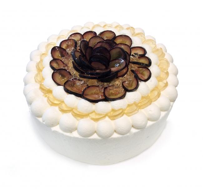 軽井沢プリンスショッピング限定 長野県産「ナガノパープル」とエルダーフラワーゼリーのショートケーキ