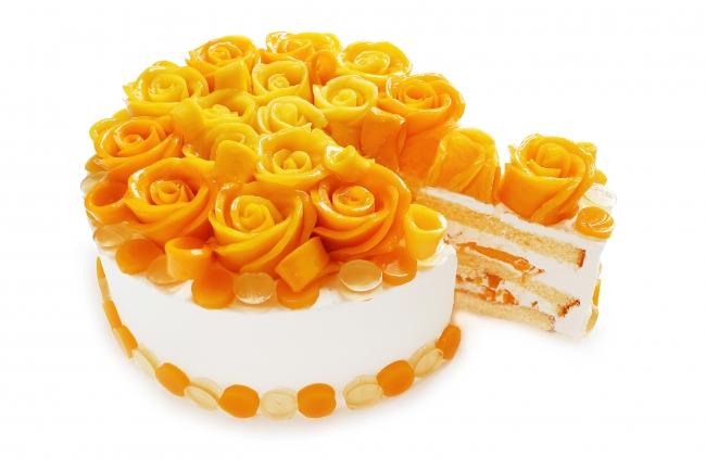 マンゴーローズのショートケーキ
