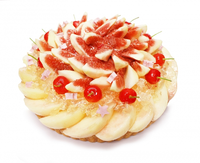 織姫 ~桃といちじくと佐藤錦のケーキ~[ベース:クリームチーズ]