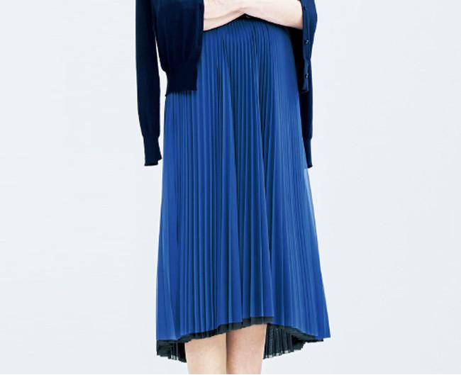 スカート 35,200円(税込) カラー:ベビーピンク×キャメル、ライトグレー×グリーン、ブラック×ロイヤルブルー