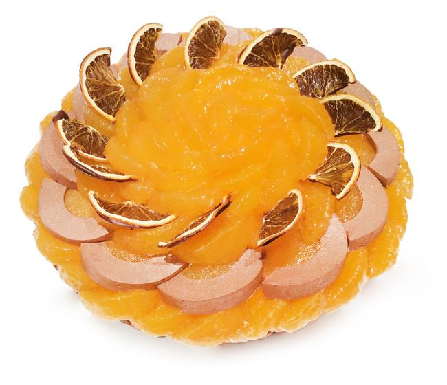 愛媛県 宇和島 西谷農園産「清見オレンジ」とチョコレートムースのケーキ 850円(税込)/1ピース