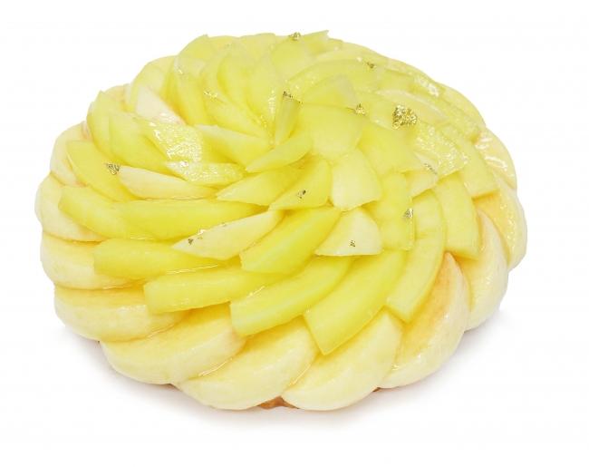 白桃とメロンのケーキ