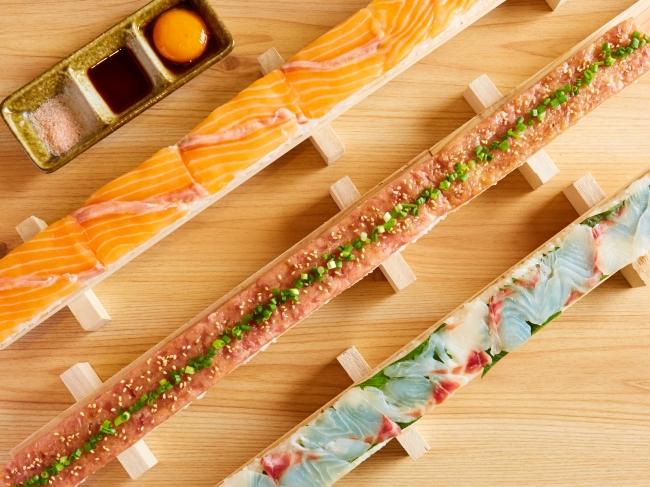 『選べる3色海鮮ユッケ寿司』