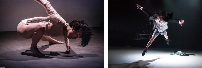 """(左)奥野美和 (C)bozzo (右)""""Silences We Are Familiar With"""" by T.H.E Dance Company, originally commissioned for the Esplanade da;ns Festival 2012. (C)Wu Yi-Chun"""