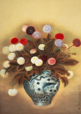 小茂田 青樹(1891-1933) 《ポンポンダリヤ》1992年