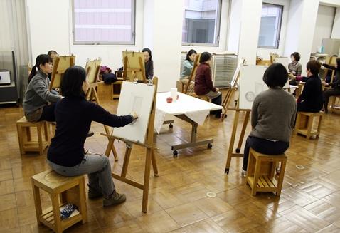 初めての絵画教室