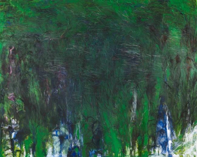 松本陽子《振動する風景的画面》2017年 油彩、キャンヴァス 200.0x250.0cm 個人蔵 ©Yoko Matsumoto