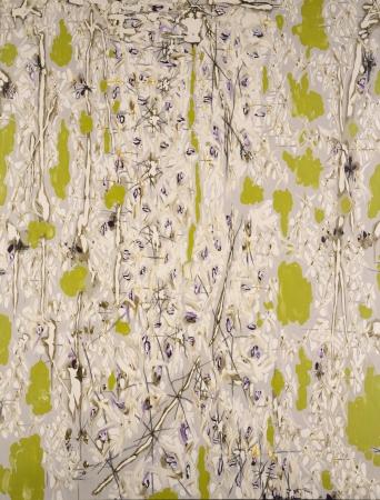 中西 夏之《白・緑より白く―Ⅱ》1988年 油彩、カンヴァス 227.3×171.9cm 横浜美術館